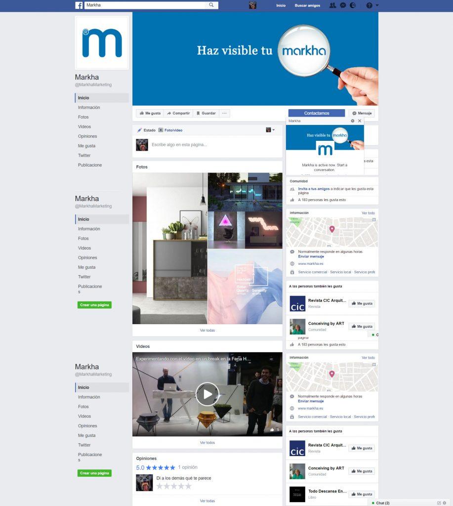 Administración y gestión de redes sociales Markha