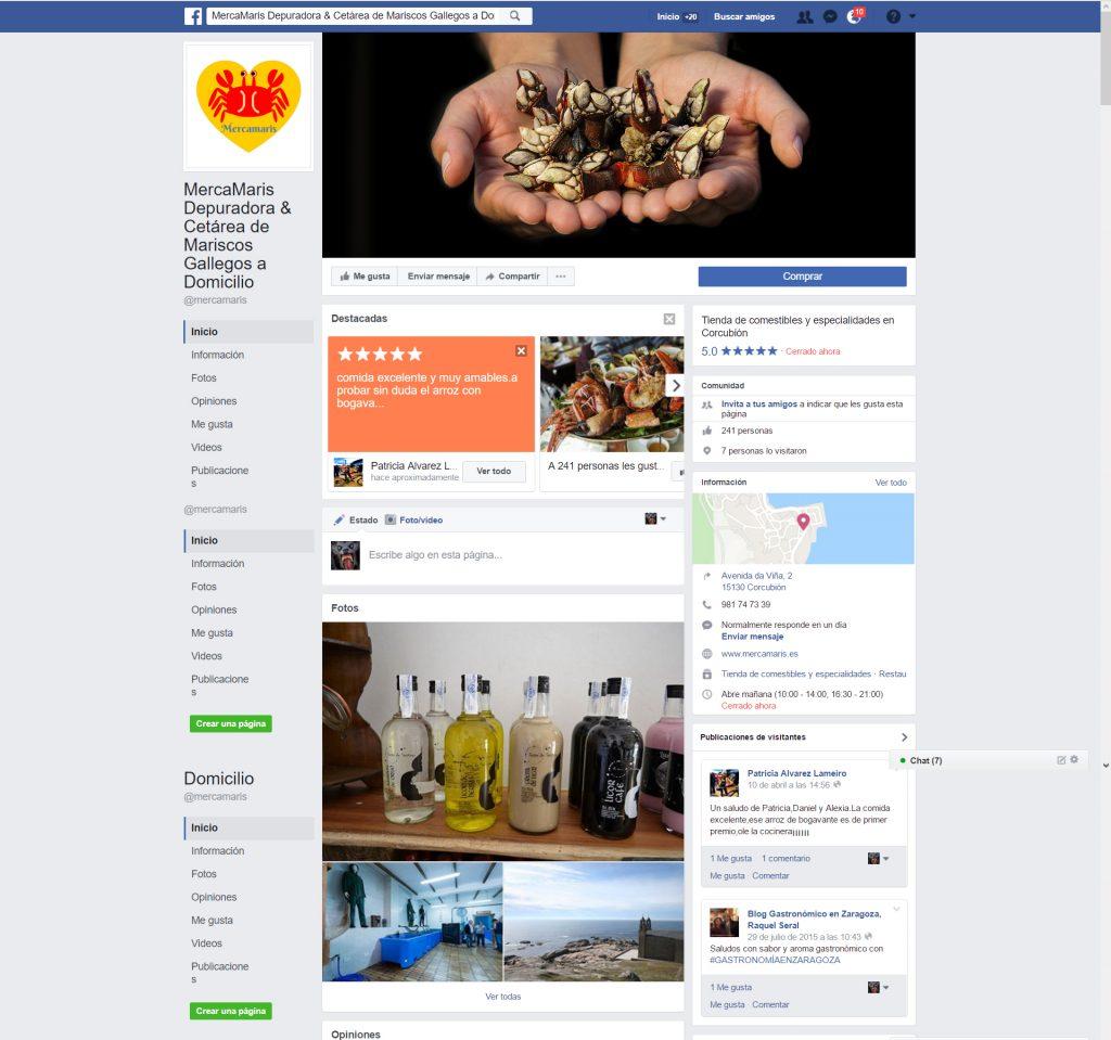 Administración y gestión de redes sociales Mercamaris