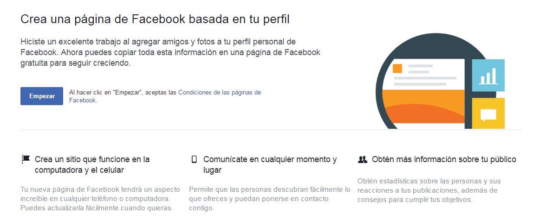 ¿Cómo convertir tu perfil en una página de Facebook?